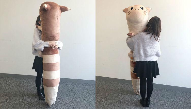 ポケモン「オオタチ」の等身大ぬいぐるみ 全長180cm、重さ2キロ超えの愛おしさ