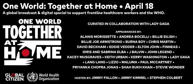 ビリーアイリッシュやスティービーワンダーも自宅から配信 WHOをサポートするための大規模フェス