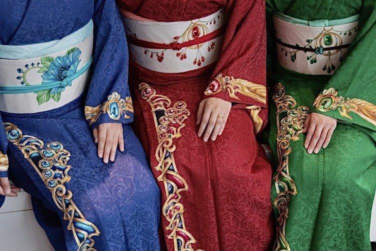 CLAMP『魔法騎士レイアース』京友禅が限定発売 職人による世界に3着の逸品