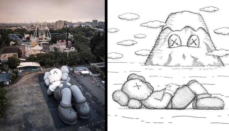 KAWSの巨大アートが富士山に 「やすらぎのひと時を与えられる機会に」