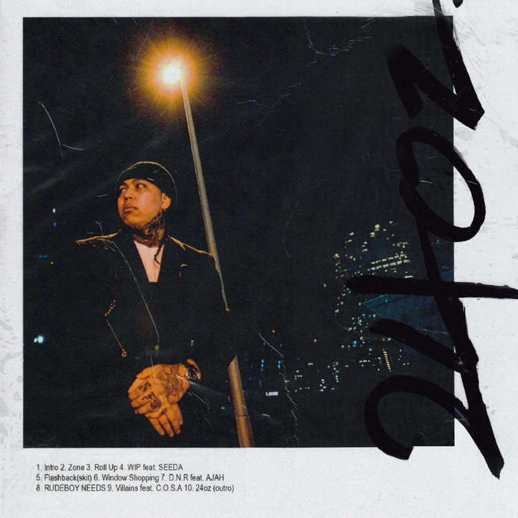 ralph『24oz』2部構成で初のミックステープ 客演にSEEDAやC.O.S.A.参加