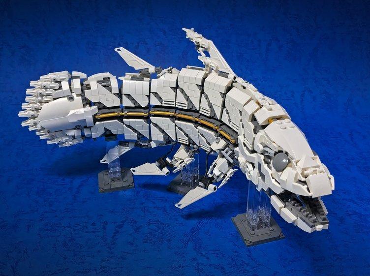 レゴ製「シーラカンス」が今にも泳ぎだしそう! メカ古代魚全身フル可動
