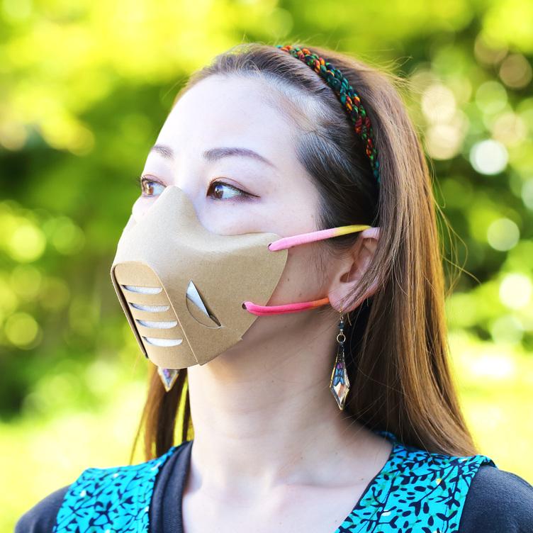 手づくりダンボールマスクがカッコいいぞ 作者に聞いたこだわりとつくり方