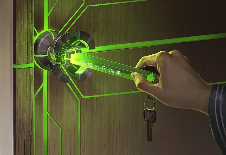 さあ異世界へ サイバー感あふれる扉、思わぬ鍵の使い方にわくわくする