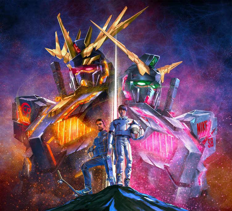 ガンダム UC×Nike SB、堀米雄斗選手がガンダムに搭乗するアニメもヤバい