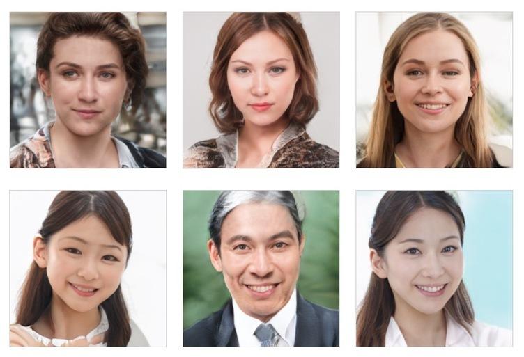 AIがつくった人物写真 「研究中」なのが伝わるベータ版を無料提供