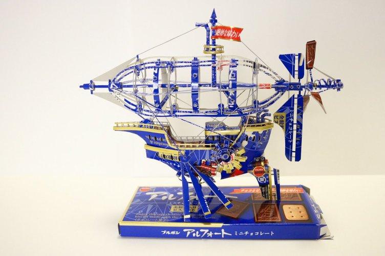 アルフォートの箱でつくった船が圧巻 ひと目見ただけで心が出航する