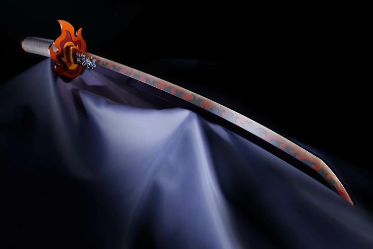 『鬼滅の刃』煉獄杏寿郎の日輪刀で惡鬼滅殺! 公式監修で忠実に立体化
