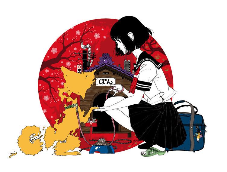 イラストレーター「中村佑介展」 金沢21世紀美術館で巡回展最大規模で開催