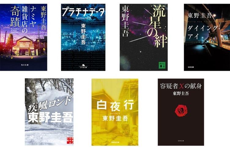東野圭吾が初の電子書籍化 『白夜行』『容疑者Xの献身』など全7作品