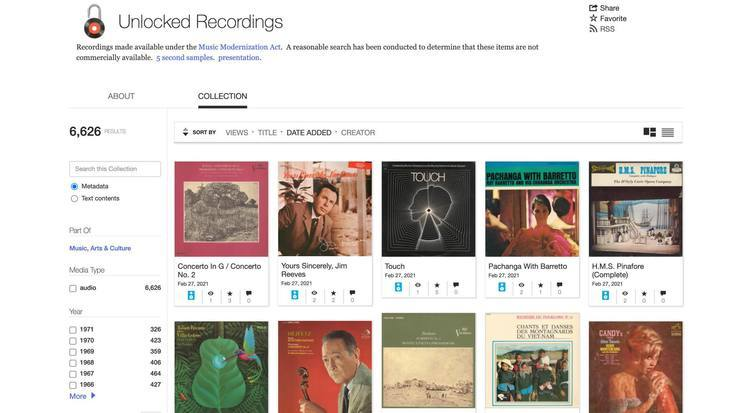 インターネットアーカイブに古き良きレコード音源が急増 当時のジャケットも