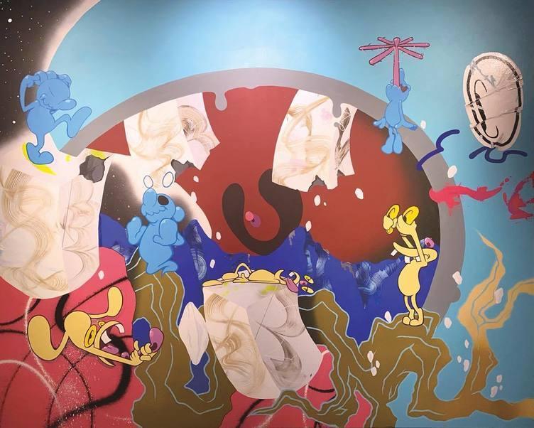 アーティスト・COIN PARKING DELIVERY個展 スマホで描く日本独自の混合社会