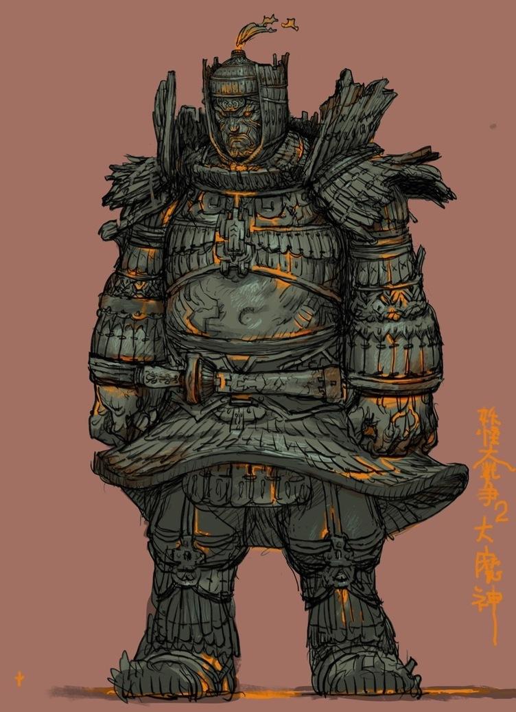 寺田克也が描く大魔神 映画『妖怪大戦争 ガーディアンズ』デザイン画が公開