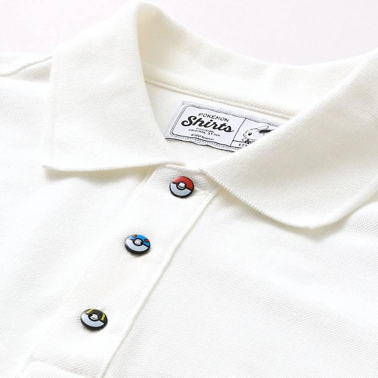 ポケモンのポロシャツで夏仕様 151種の刺繍やモンスターボールボタンがうれしい