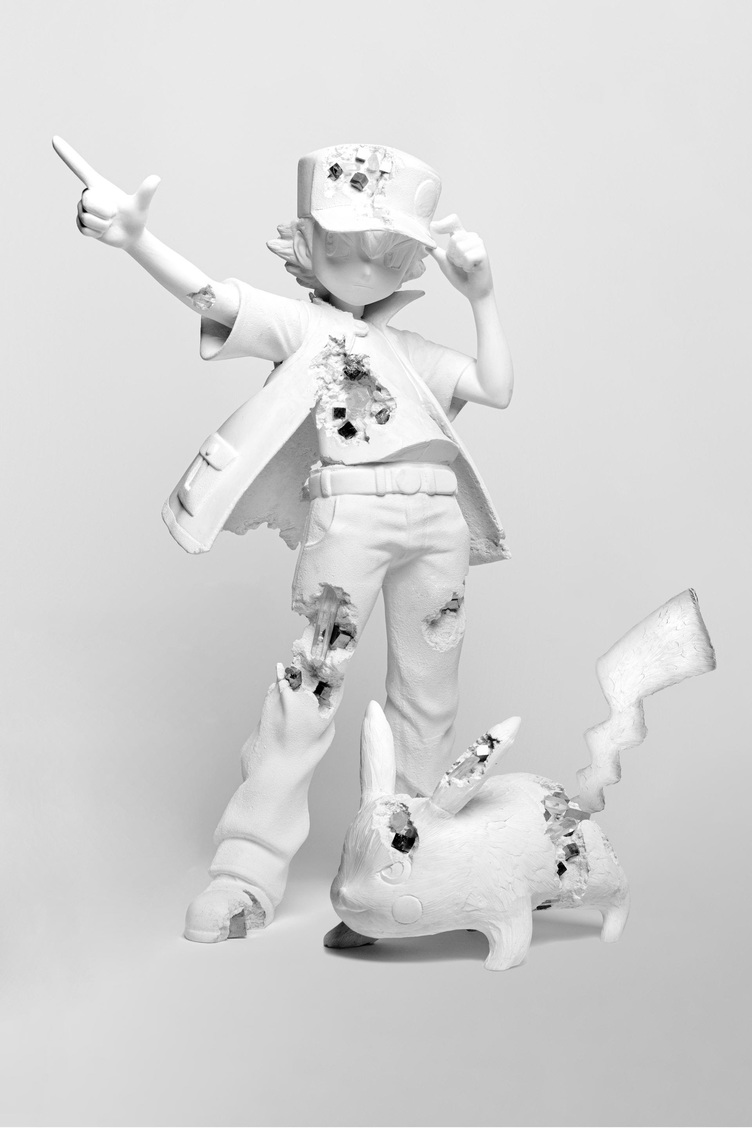 現代アーティスト ダニエル・アーシャム×ポケモンの展覧会 2mのブロンズ製巨大ピカチュウもすごい
