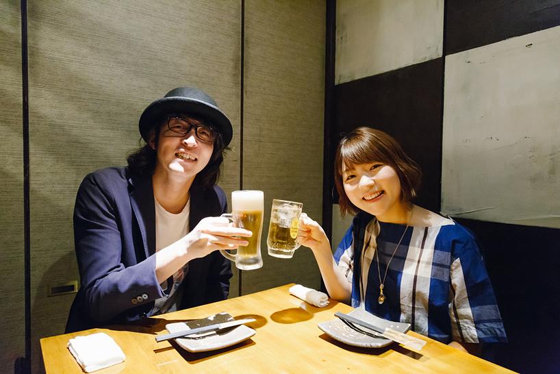小澤亜李さんと乾杯